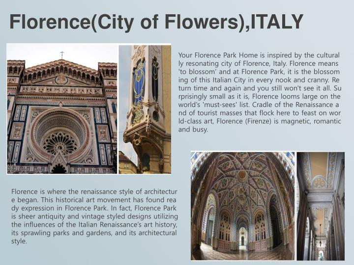 Florence city of flowers italy
