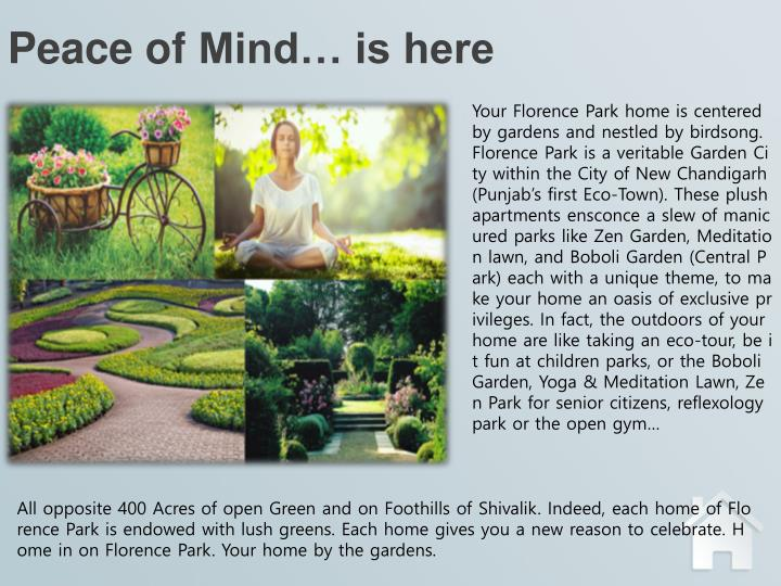 Peace of mind is here