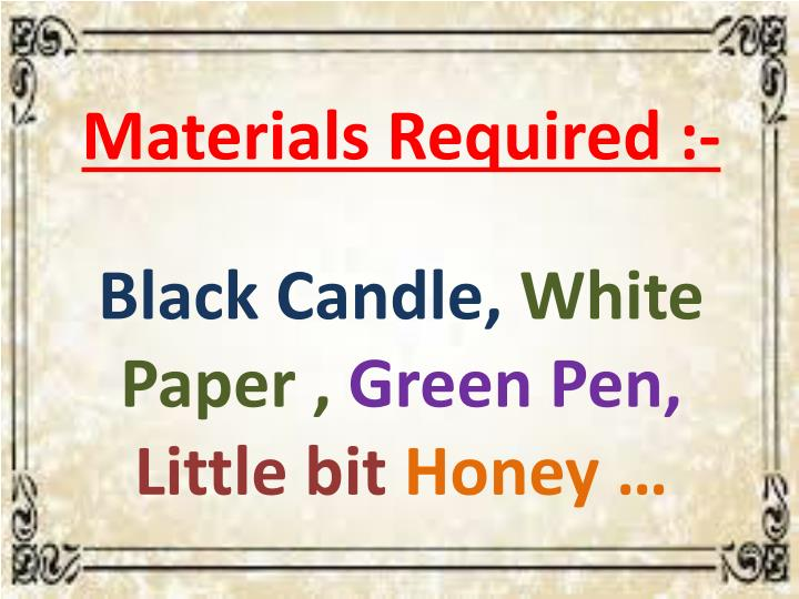 Materials Required :-