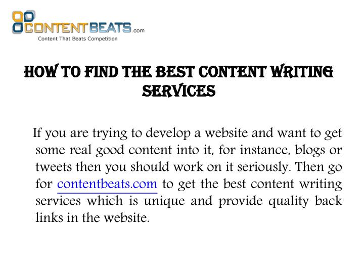 How to find the best content writing services