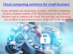 cloud computing solutions for small business
