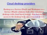 cloud desktop providers