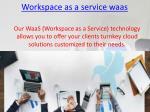 workspace as a service waas