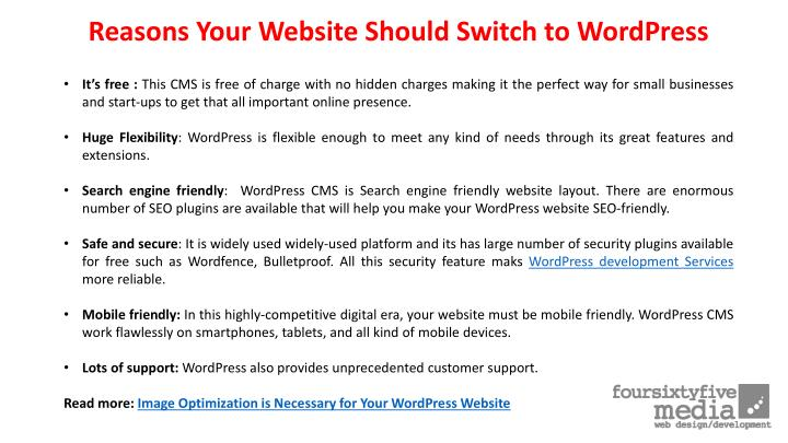 Reasons Your Website Should Switch to WordPress