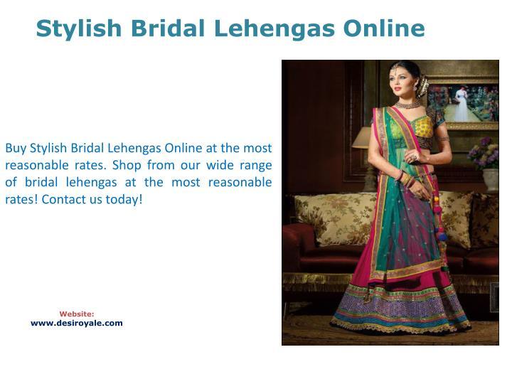 Stylish Bridal Lehengas Online
