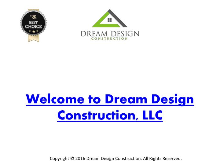 Welcome to Dream Design