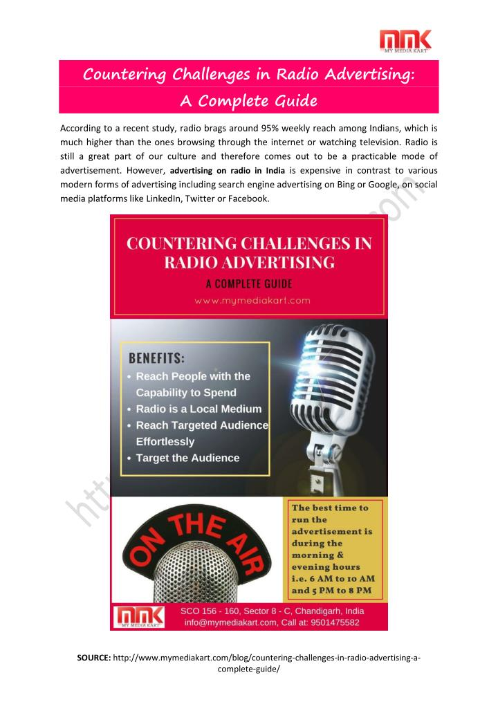 Countering Challenges in Radio Advertising: