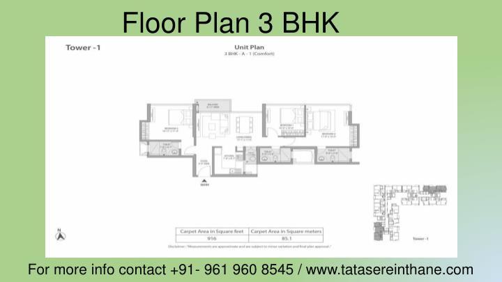 Floor Plan 3 BHK