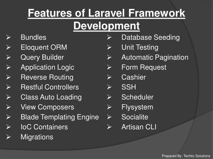 Features of Laravel Framework