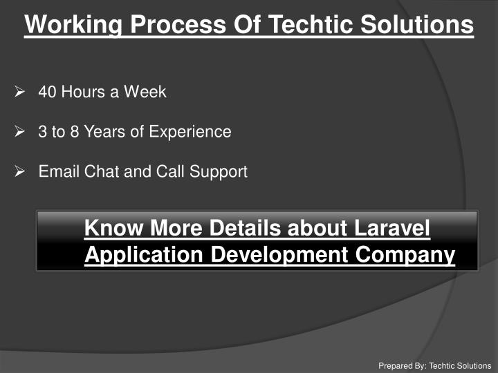 Working Process Of Techtic Solutions