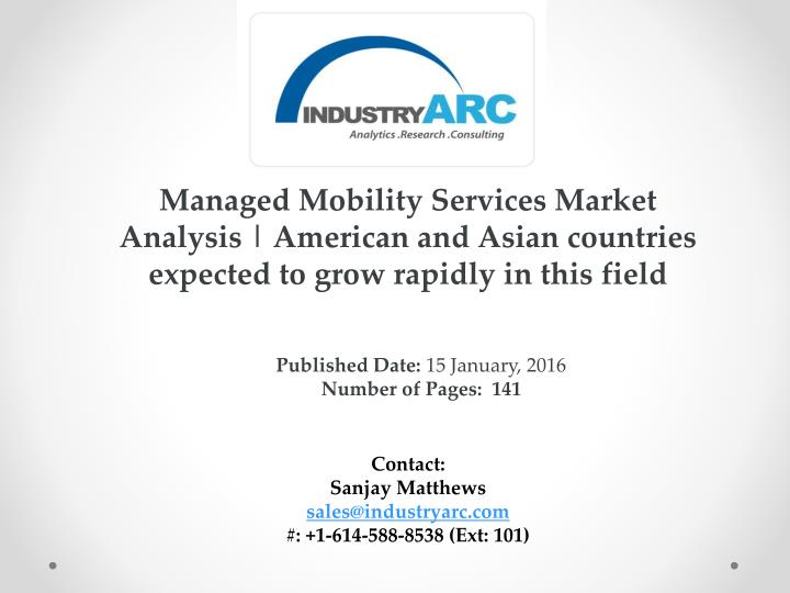 Managed Mobility Services Market Analysis |