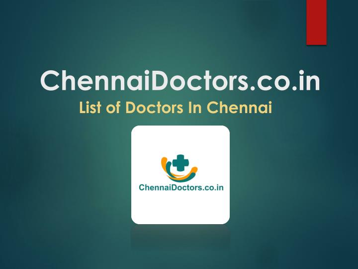 Chennai doctors co in