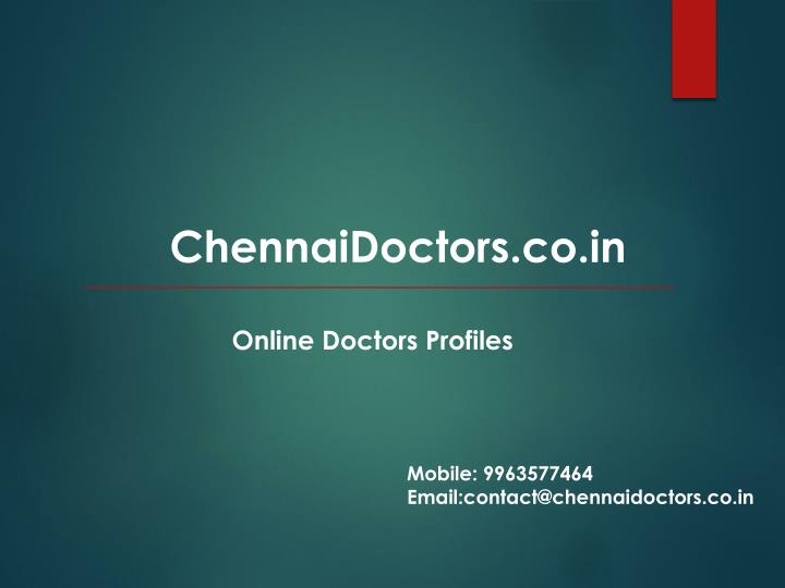 ChennaiDoctors.co.in