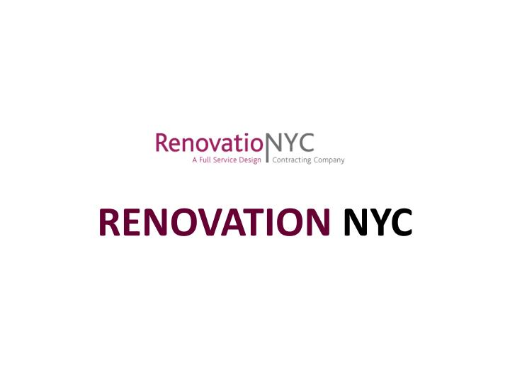 renovation nyc
