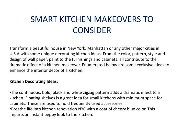 SMART KITCHEN MAKEOVERS TO CONSIDER
