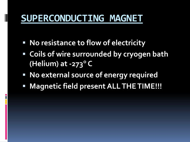 SUPERCONDUCTING MAGNET