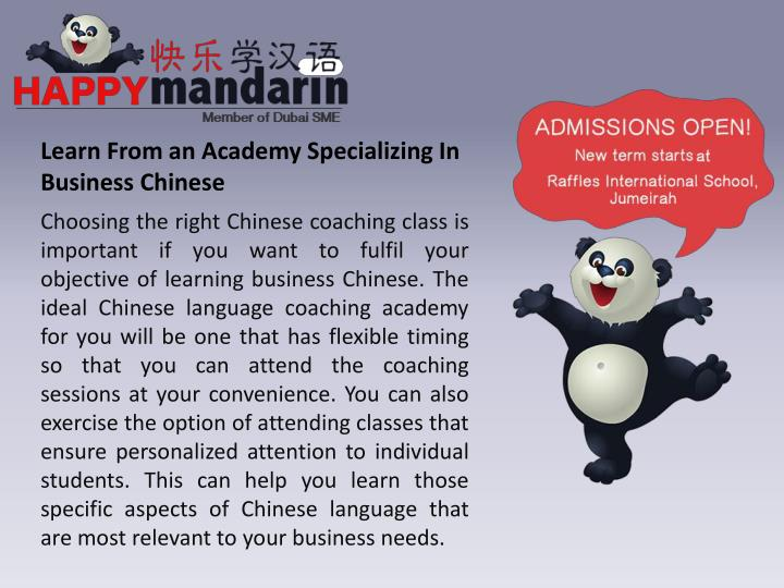 Learn From an Academy Specializing In Business Chinese