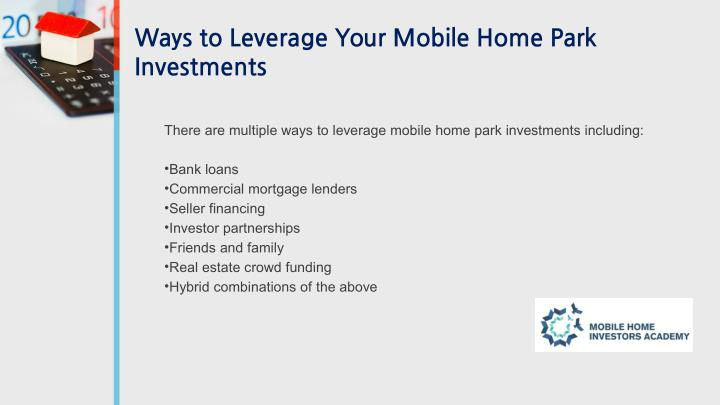 Ways to Leverage Your Mobile Home Park