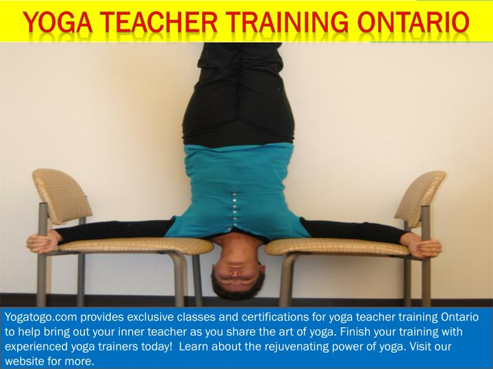 Yoga teacher training Ontario