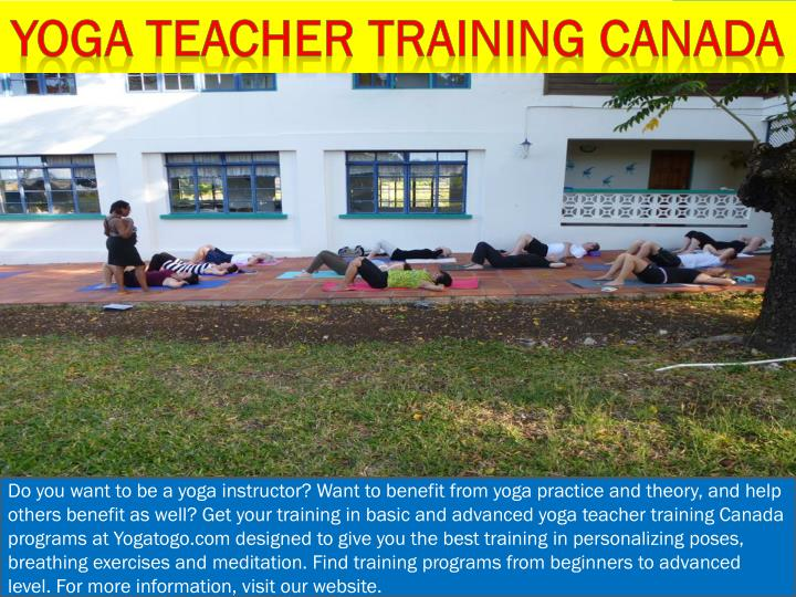 Yoga teacher training Canada