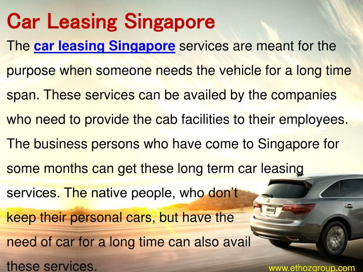 Car Leasing Singapore