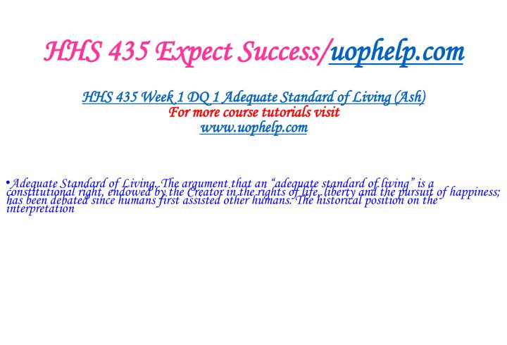 Hhs 435 expect success uophelp com2