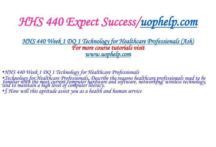 Hhs 440 expect success uophelp com2