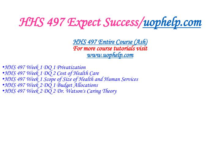 Hhs 497 expect success uophelp com1