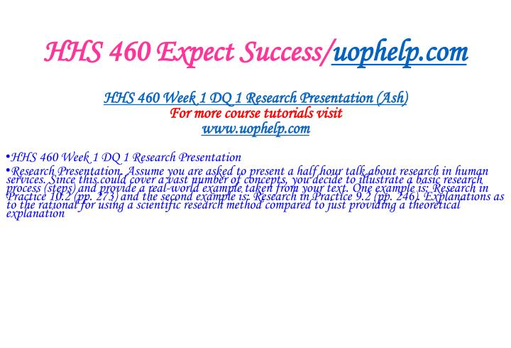 Hhs 460 expect success uophelp com2