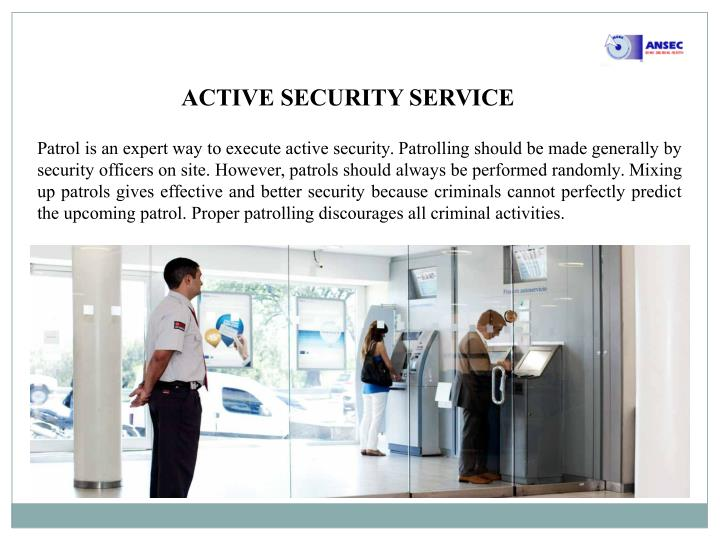 ACTIVE SECURITY SERVICE