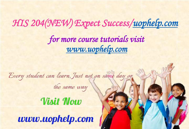 His 204 new expect success uophelp com