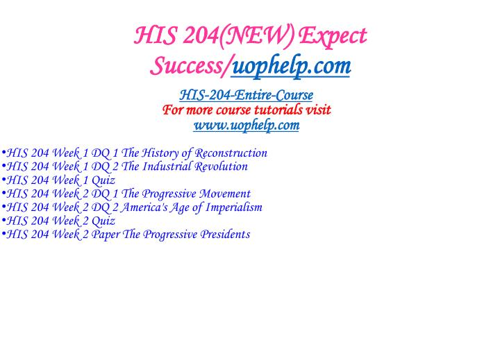 His 204 new expect success uophelp com1