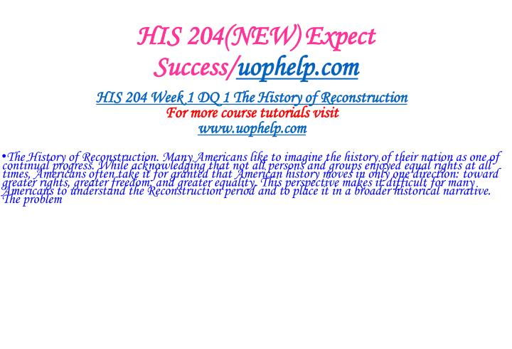 His 204 new expect success uophelp com2