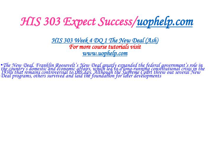 HIS 303 Expect Success/