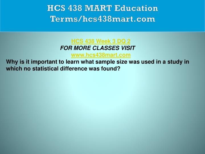 HCS 438 MART Education Terms/hcs438mart.com