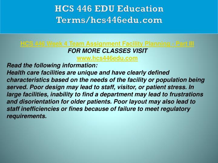 HCS 446 EDU Education Terms/hcs446edu.com