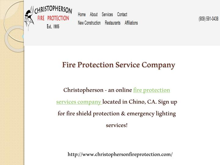 Fire Protection Service Company