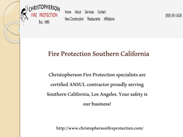 Fire protection southern california