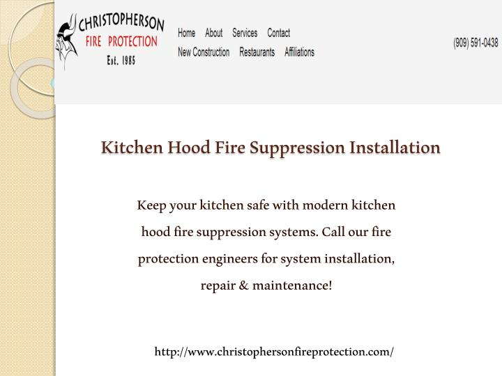 Kitchen Hood Fire Suppression Installation