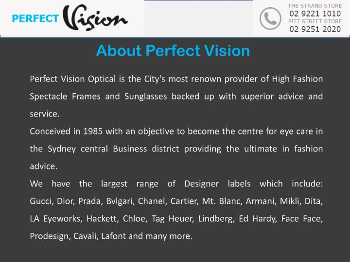 About Perfect Vision