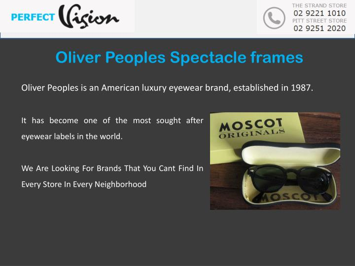 Oliver Peoples Spectacle
