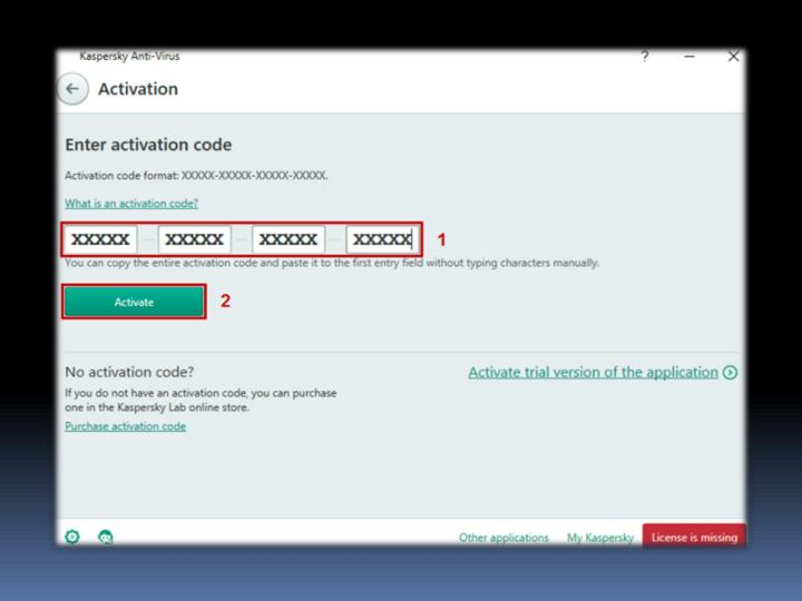How to activate kaspersky antivirus