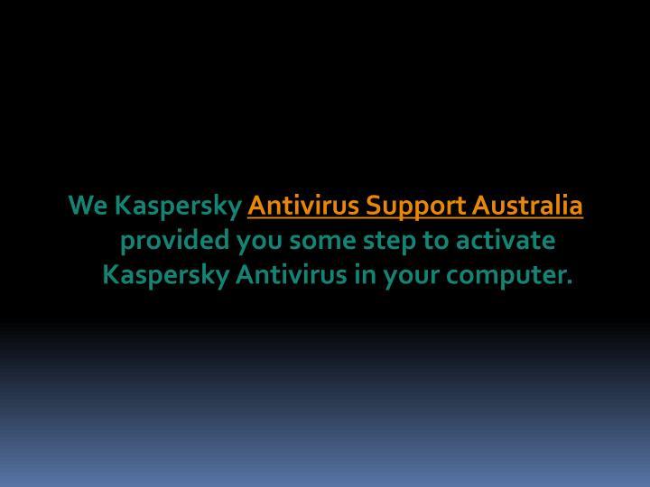 We Kaspersky
