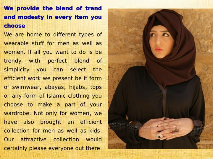 We provide the blend of trend