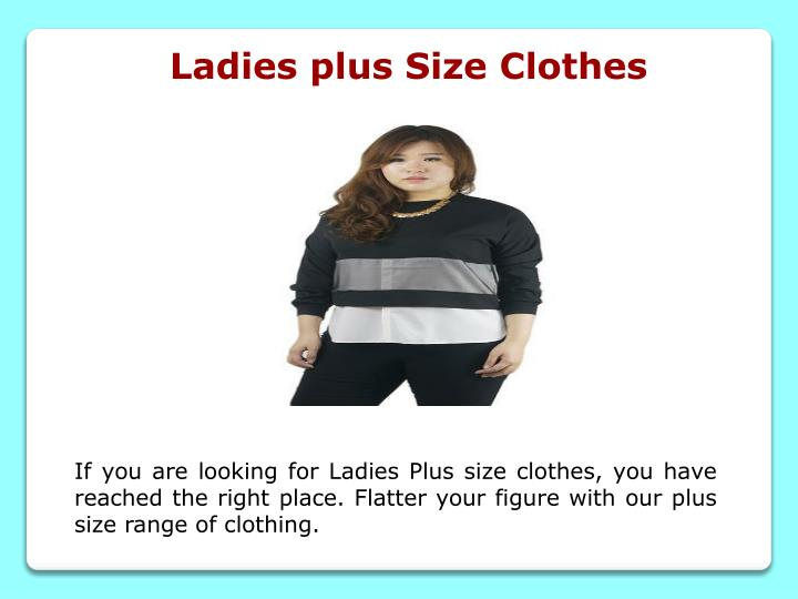 Ladies plus Size Clothes