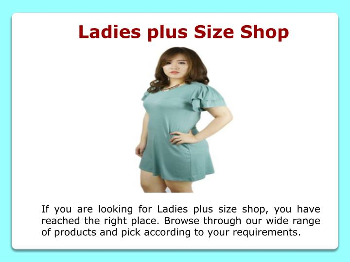 Ladies plus Size Shop