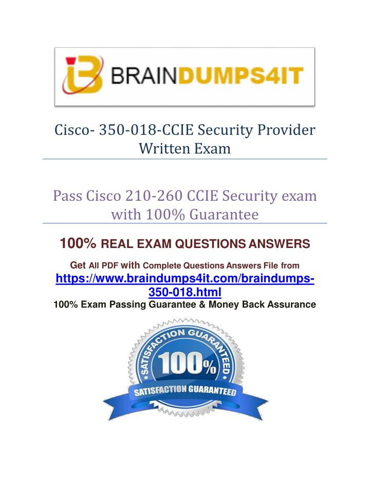 Cisco- 350-018-CCIE Security Provider
