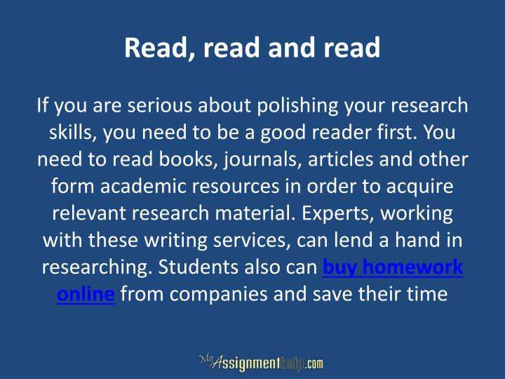 Read, read and read