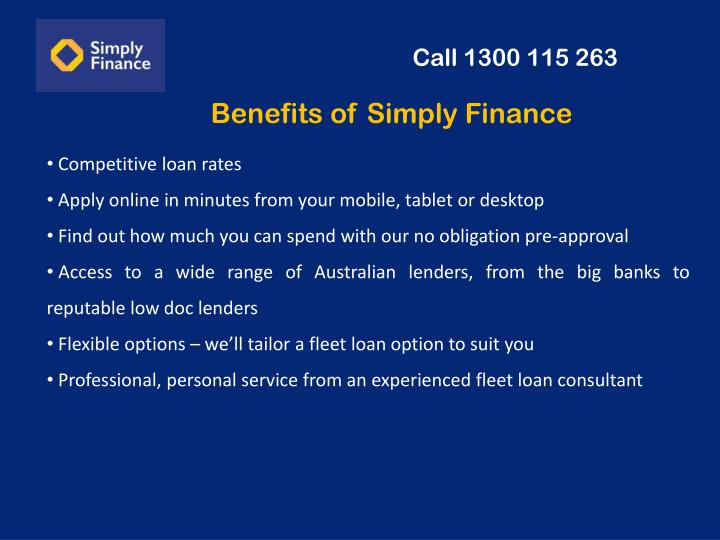 Benefits of Simply Finance