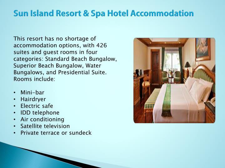 Sun Island Resort & Spa Hotel Accommodation
